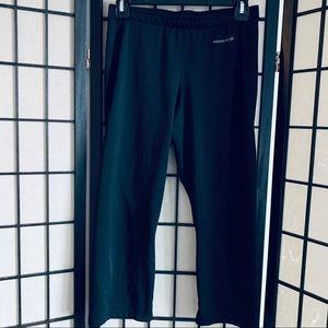 Sugoi black cycling Capri pants split hem Sz S
